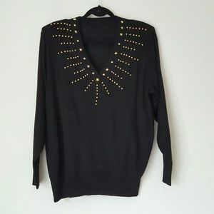 Vintage 90s studded sweater